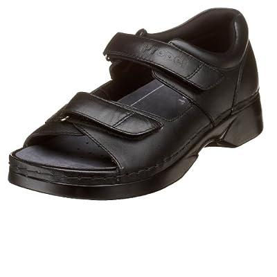Propet Women's W0089 Pedic Walker Sandal, Black, 11 XX (US Women's 11 4E) | Sport Sandals & Slides