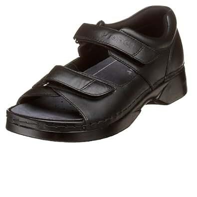 Propet Women's W0089 Pedic Walker Sandal,Black,6 M (US Women's 6 B)
