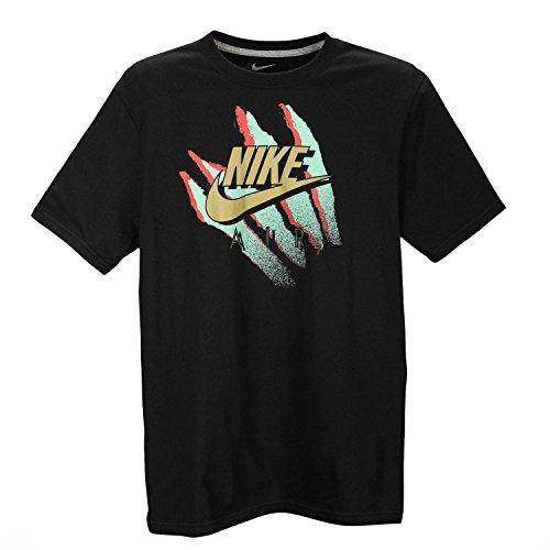 NIKE Men's Retro Animal T-Shirt Large Black Gold Mint Green