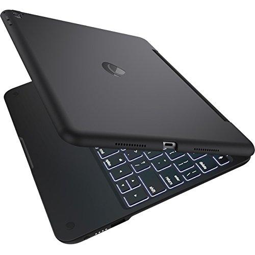 Clamcase+ Power for iPad Pro 9.7, Incipio Clamcase+ Power Backlit Keyboard with Power Bank for iPad Pro 9.7 - Black