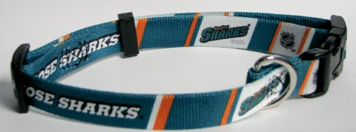 NHL San Jose Sharks Adjustable Pet Collar, X-Small, Team Color