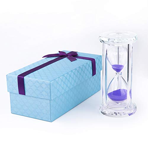 Pink 30 min Siveit Crystal Hourglass Sand Timer with Gift Box