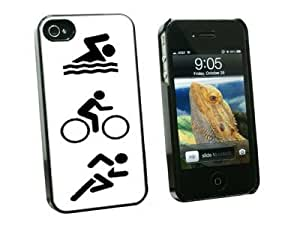 Graphics and More Triathlete Swim Bike Run - Triathlon - Snap On Hard Protective Case for Apple iPhone 6 4.7 - Black - Carrying Case - Non-Retail Packaging - Black