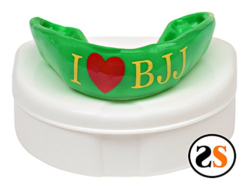 Custom I Heart BJJ Brazilian Jiu-jitsu Mouthguard by SportingSmiles