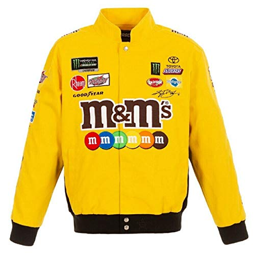 Kyle Busch M&M Yellow Cotton Jacket Size Small
