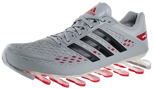 Adidas Hombre Springblade de frecuencia funcionando Zapatos - Running White / negro / blanco (6,5) Grey/Red