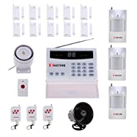 PiSector S02 Wireless Home Security Alarm System Kit with Auto Dial + Outdoor Siren