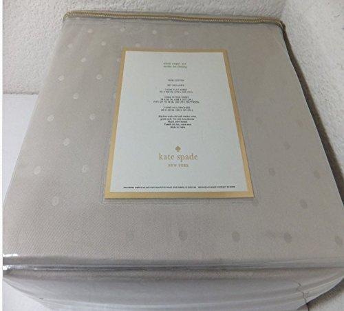 Kate Spade Larabee Dot KING Sheet Set, Dove Grey