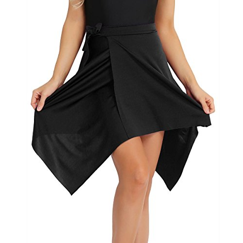 inlzdz Womens Adult Lyrical Camisole Dress Asymmetrical High-Low 2 Layers Skirts Dance Dress
