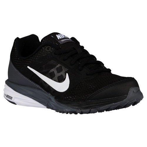 Zapatos para correr Tri Fusión Run (PS) para niños (13,5 niño pequeño, Negro / Gris oscuro / pla