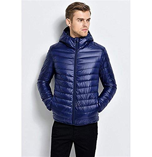 Winter Ultralight Moda Men Hooded Hooded Jacket Clothing Outdoor Sleeve Down Long Quilted Outerwear Marine Jacket Jacket 8xaqntE