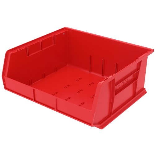 Akro-Mils 30250 Plastic Storage Stacking Hanging Akro Bin, 15-Inch by 16-Inch by 7-Inch, Red, Case of 6