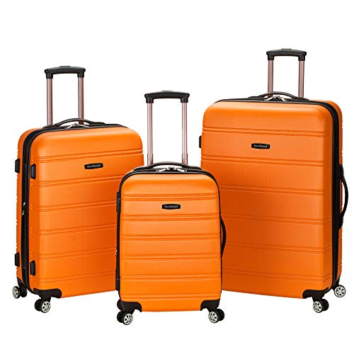 Rockland Luggage 3 Piece Melbourne Hardside Spinner Set Oran