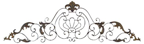 - Deco 79 81380 Crown Iron Scroll Wall Decorative Sculpture