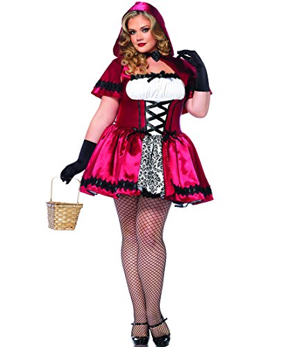 Gothic Red Riding Hood Adult Costume - Plus Size 1X/2X