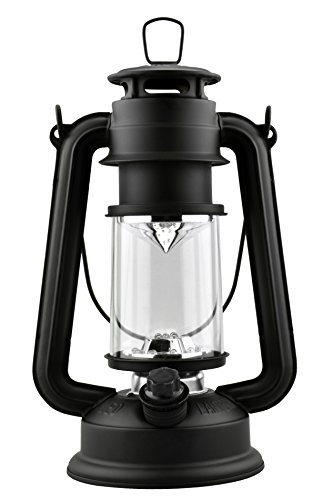 SE FL805-15S 15-LED Silver Hurricane Lantern with Dimmer Switch