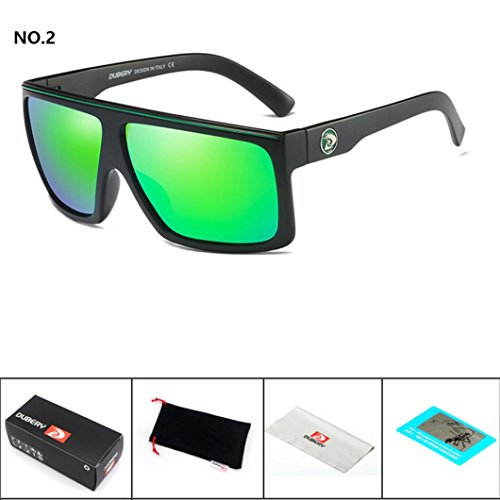 af4b96eb5f DUBERY Sunglasses Men s Polarized Sunglasses Outdoor Driving Men Women  Sport Frame Fishing Hunting Boating Glasses New
