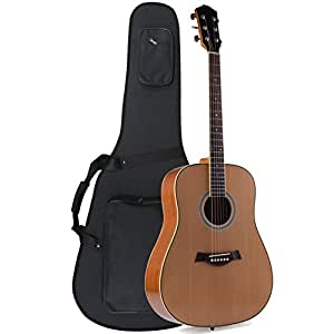 adm 41 inch full size premium dreadnought acoustic electric guitar with foamed case. Black Bedroom Furniture Sets. Home Design Ideas
