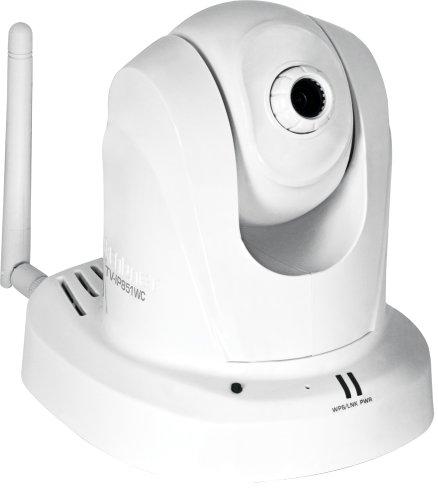 TRENDnet Wireless N Pan, Tilt, Zoom Network Cloud Surveillance Camera with 1-Way Audio, TV-IP851WC (White), Best Gadgets