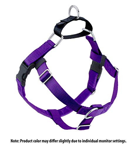 Wiggles Wags Whiskers Freedom No-Pull Dog Harness: Velvet Padding, Multi-function & USA Made! Lots of Sizes & Colors (Leash Not Included), Small Purple