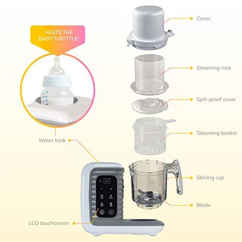 41TC67TXfpL - Children Of Design 8 In 1 Smart Baby Food Maker & Processor, Steamer, Blender, Cooker, Masher, Puree, Formula & Bottle Warmer Prep System