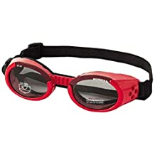 Doggles DODGILLG-13 ILS Large Shiny Red Frame and Smoke Lens