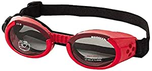 Doggles ILS Small Shiny Red Frame and Smoke Lens