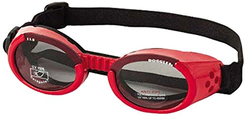 Doggles ILS Shiny Red Frame/Smoke Lens, Sizes:...
