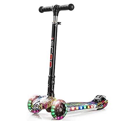 Amio Scooter Multifuncional para niños con patineta portátil de Tres Ruedas Scooter de Viaje para niños
