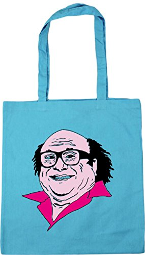 HippoWarehouse Frank Illustration Tote Shopping Gym Beach Bag 42cm x38cm, 10 litres Surf Blue