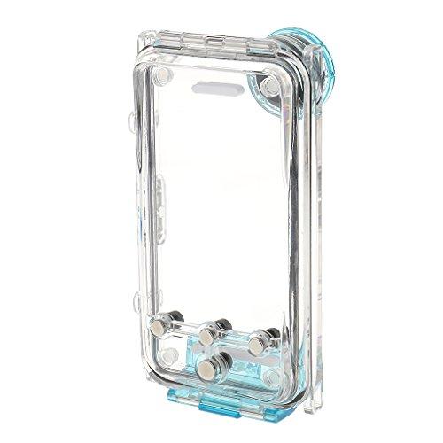 MagiDeal Funda de Teléfono con Correa de Cuello Accesorios Móvil Policarbonato ABS Vidrio Plano Acero Inoxidable Capacidades Pantalla Táctil Universal - Púrpura Azul