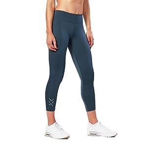 2XU Women's 7/8 Active Compression Tights, Ombre Blue/Silver, X-Small