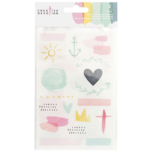 American Crafts 2 Sheets Rub-Ons Creative Devotion
