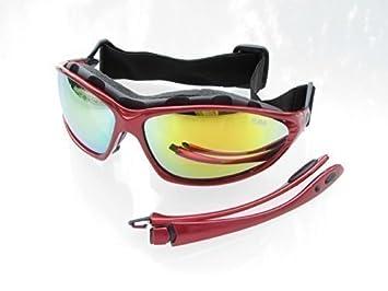 Ravs Lunettes De Sport Lunettes De Ski - Surf - Lunettes De Soleil Lunettes De Vélo Avec Bande, Cintre Et Boftbag Super Flash Anti-Reflets
