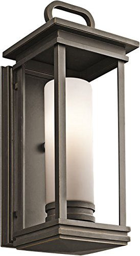 Kichler 49475RZ South Hope Outdoor Wall 1-Light, Rubbed Bronze
