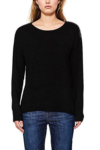 Black ESPRIT 001 Donna Felpa Nero wnvqxYaf