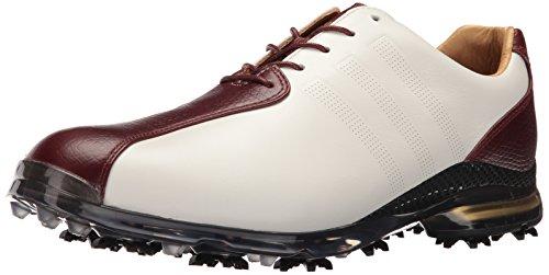 adidas Men's Adipure TP Golf Shoe, White/Red Wood, 9.5 M US (Leather Adidas Adipure)