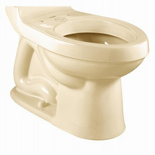 - American Standard 3225.016.021 Champion Right Height Elongated Toilet Bowl with Bolt Caps, Bone (Bowl Only)