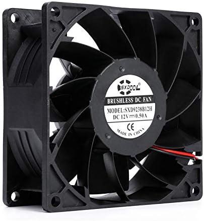 New SXDOOL SXD9238B12H 92mm 929238mm DC 12V 0.50A 4000rpm 92.3cfm server inveter axial cooling fan powerful