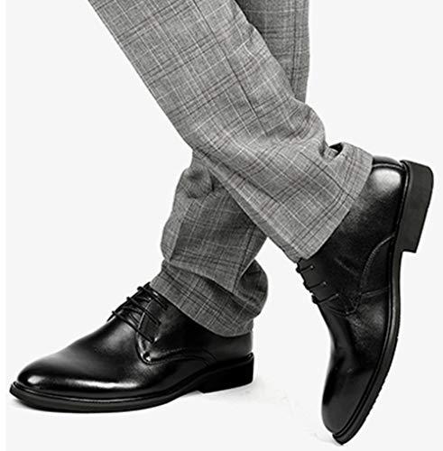 Business Da Scarpe Uomo Black1 Pelle Stringate Derby In Uomo Da Scarpe 6Xp4FW