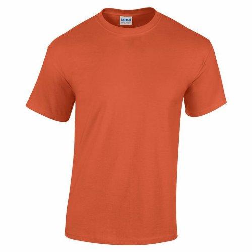 Gildan 5000pesado algodón adultos camiseta Rosa diseño de heliconia X-Large puesta del sol