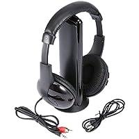 Deasengmins 5 in 1 HiFi Wireless Headset Music Stereo Headphones Earphone FM Radio Monitor For MP3 PC TV Audio Mobile Phones Tablet PC