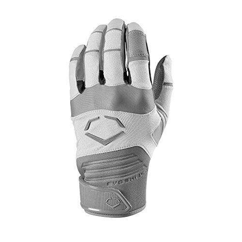 EvoShield Adult Aggressor Batting Gloves, White - Medium