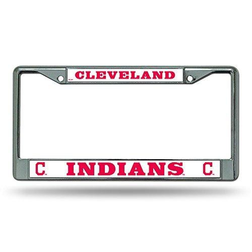 MLB Cleveland Indians Chrome License Plate Frame
