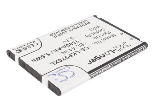 (KML Battery for LG Optimus Dynamic L38c L38G AS680 Connect 4G E400F E405F E425F E435F E510 E510F E610F E612 E615 Gelato Q Hub LS700 Optimus 2, Li-ion 3.70V 1500mAh / 5.55Wh )