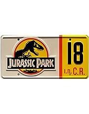 Jurassic Park | #18 | Metal Stamped License Plate