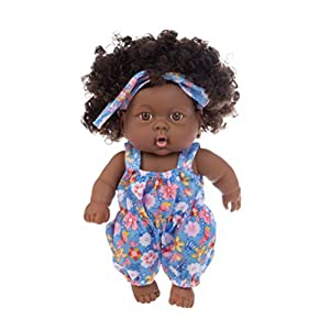 SUPYINI Black Girl Doll Lifelike Newborn Baby Dolls African American Newborn Black Reborn Baby Dolls Soft Toy Kids…