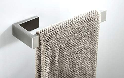 Z MAYABBO Towel Bar, Hand Towel Holder Stainless Steel SUS 304, Bathroom Hardware Accessory Towel Rack, Contemporary Style, Brushed Nickel Wall Mounted