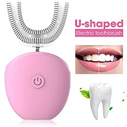 Automatic Toothbrush, Layopo U-Shaped 360 Electric Toothbrush for kids & Adults, Waterproof Electric Toothbrush with 4 Optional Modes, 35s Automatic Timer, Adult