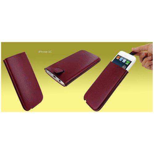 Piel Frama U596BU Pull Burgunder Ledertasche für Apple iPhone 5/5S/5C rot